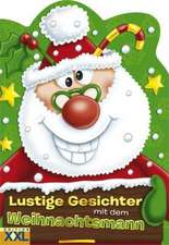 Lustige Gesichter mit dem Weihnachtsmann