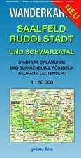 Saalfeld, Rudolstadt und Schwarzatal 1 : 50 000 Wanderkarte