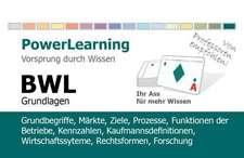 BWL Grundlagen. PowerLearning Lernkarten