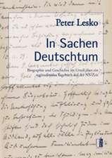 Lesko, P: In Sachen Deutschtum