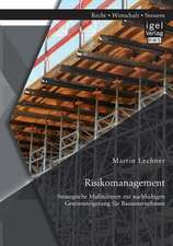 Risikomanagement:  Strategische Massnahmen Zur Nachhaltigen Gewinnsteigerung Fur Bauunternehmen
