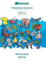 BABADADA, Plattdüütsch (Holstein) - Simplified Chinese (in chinese script), Bildwöörbook - visual dictionary (in chinese script)
