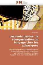 Les Mots Perdus:  La Reorganisation Du Langage Chez Les Aphasiques