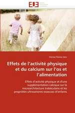 Effets de l'activité physique et du calcium sur l'os et l'alimentation