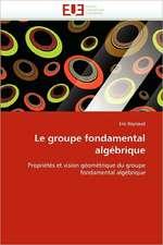 Le groupe fondamental algébrique