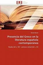 Presencia del Greco en la literatura española contemporánea