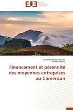 Financement Et Perennite Des Moyennes Entreprises Au Cameroun:  Application a la Fiabilite Et Au Diagnostic