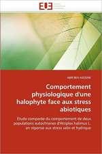 Comportement physiologique d'une halophyte face aux stress abiotiques