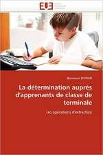 La Determination Aupres D'Apprenants de Classe de Terminale:  Entre Heros Et Zero