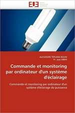 Commande Et Monitoring Par Ordinateur D'Un Systeme D'Eclairage:  Le Match