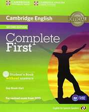 Complete First for Spanish Speakers Student's Pack without Answers (Student's Book with CD-ROM, Workbook with Audio CD)