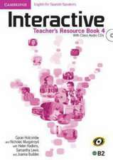 Interactive for Spanish Speakers Level 4 Teacher's Resource Book with Class Audio CDs (4)