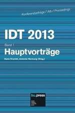 IDT 2013 Band 1 Hauptvorträge
