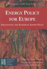 Energy Policy for Europe: Identifying the European Added-Value