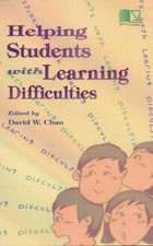Chan, D:  Helping Students with Learning Difficulties