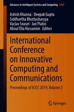International Conference on Innovative Computing and Communications: Proceedings of ICICC 2019, Volume 2
