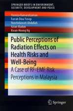 Public Perceptions of Radiation Effects on Health Risks and Well-Being: A Case of RF-EMF Risk Perceptions in Malaysia